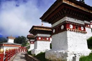 Bhutan 108 Stupas