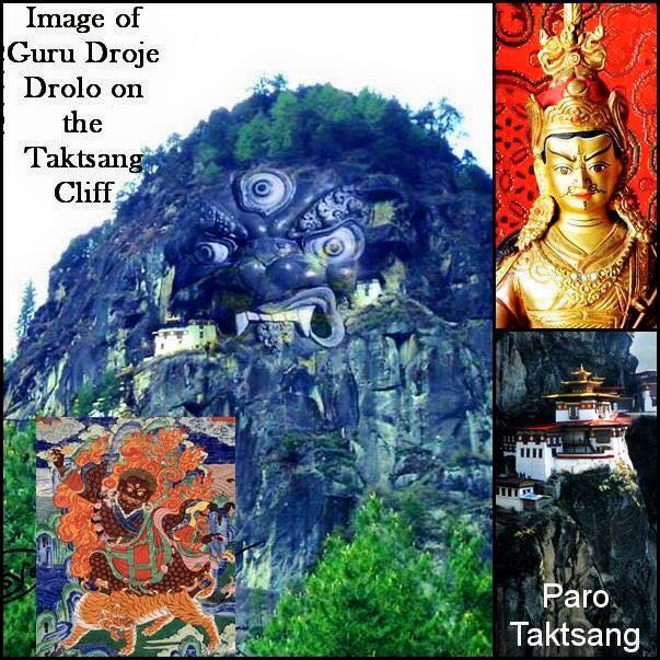 Image of Guru Dorje Drolo on the Taktsang cliff