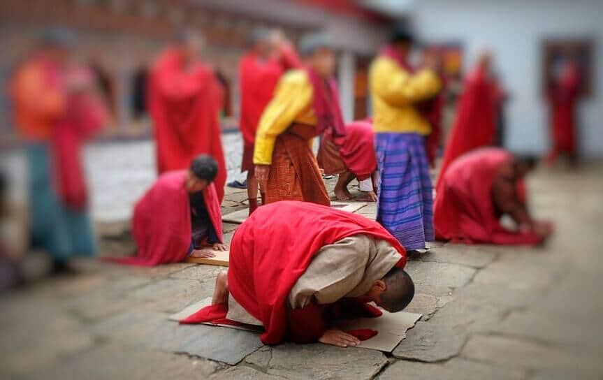 ฺฺBhutan prostrations half