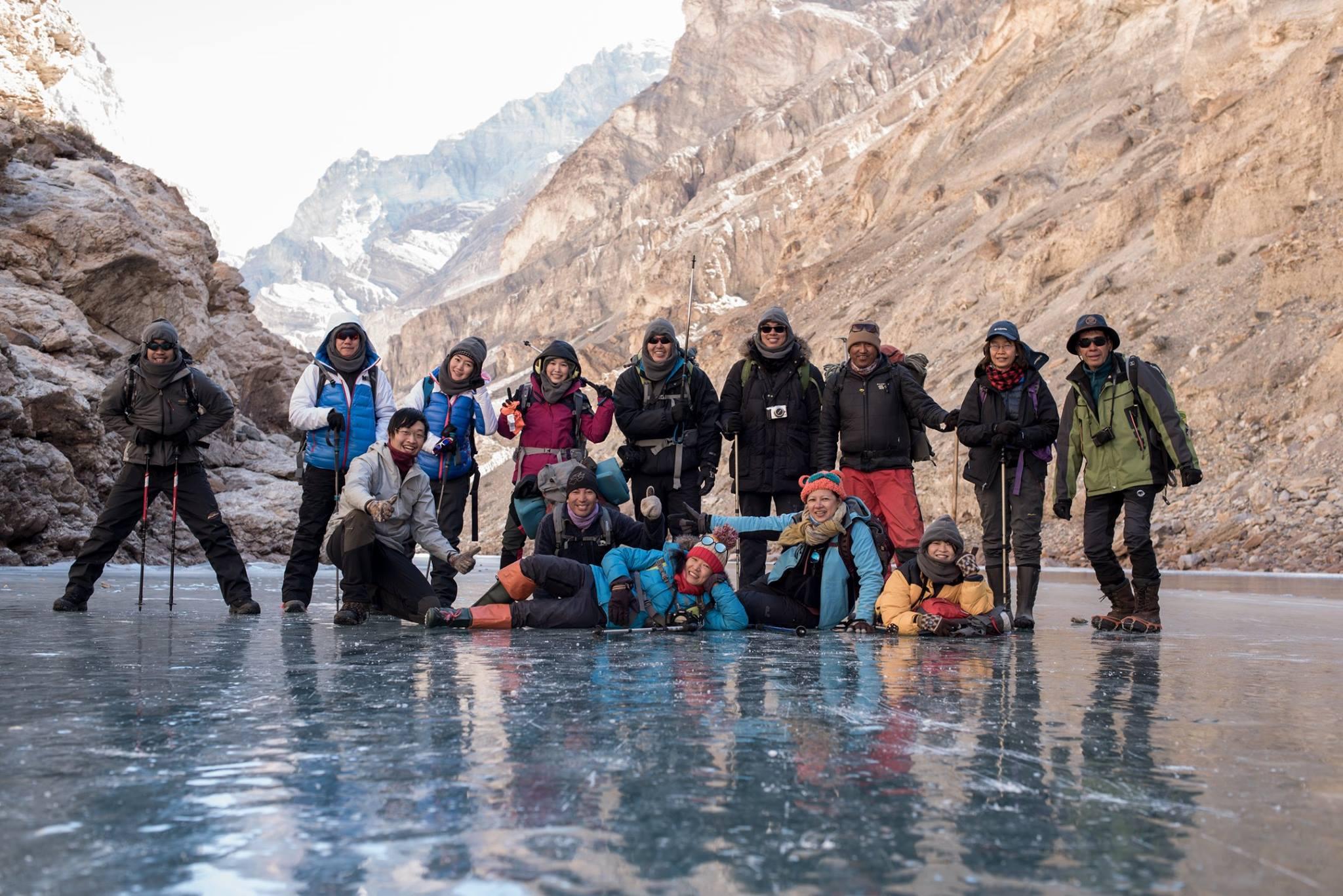 Chadar Trek 11 วัน group photo