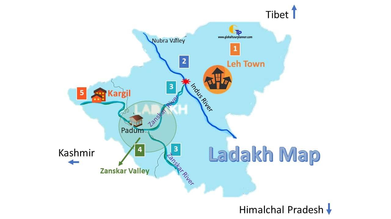 Zansakar - Ladakh Map