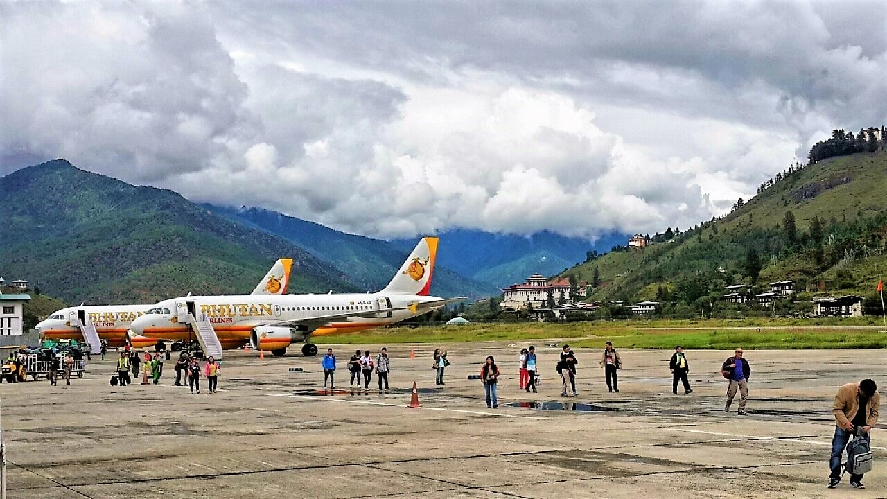 Bhutan Airlines at Paro Airport