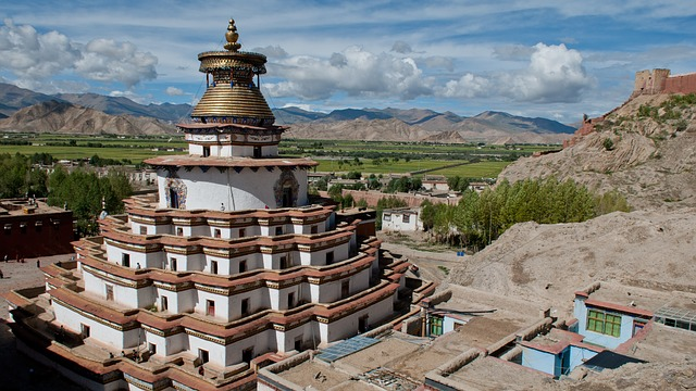 Tibet Gyantse Pelkor Chode Monastery
