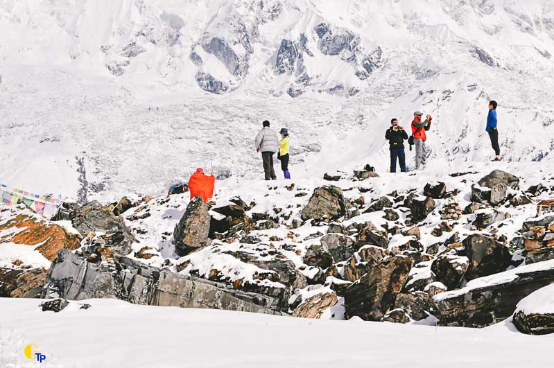 Tourists at Annapurna Base Camp